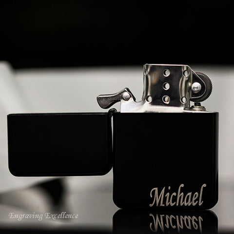 Black Fuel Engraved Lighter