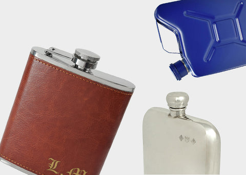 Personalised engraving gifts for him such as engraved hip flasks