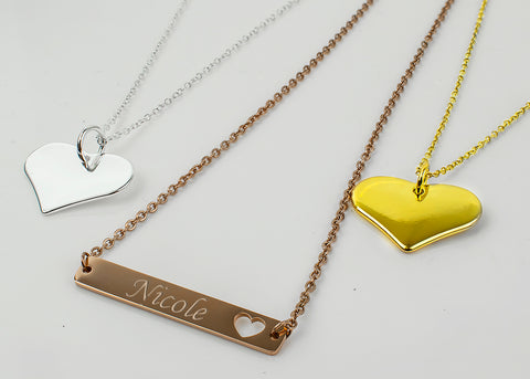 Engraved Women's Necklaces