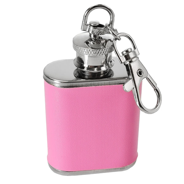 1oz Faux Leather Hip Flask