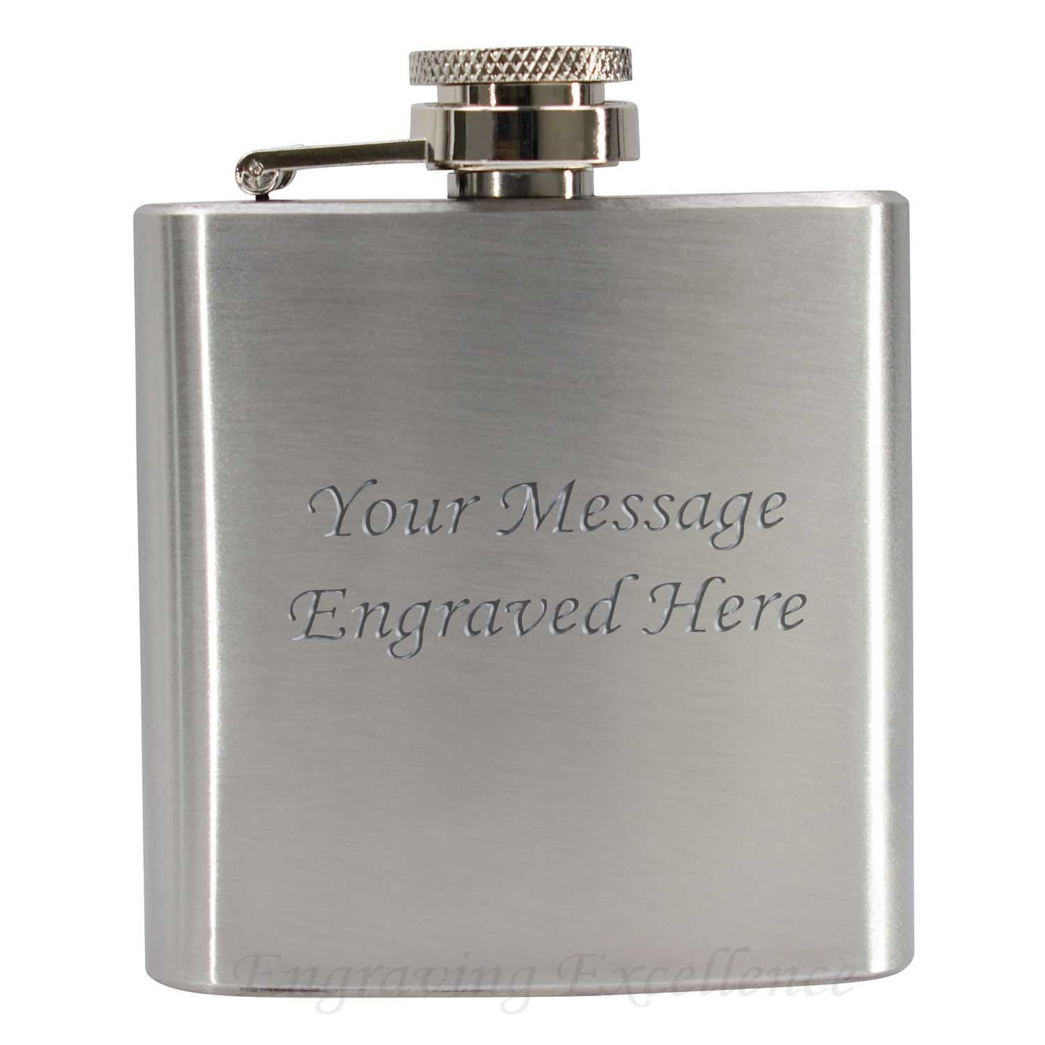3oz Stainless Steel Hip Flask 360 Product View
