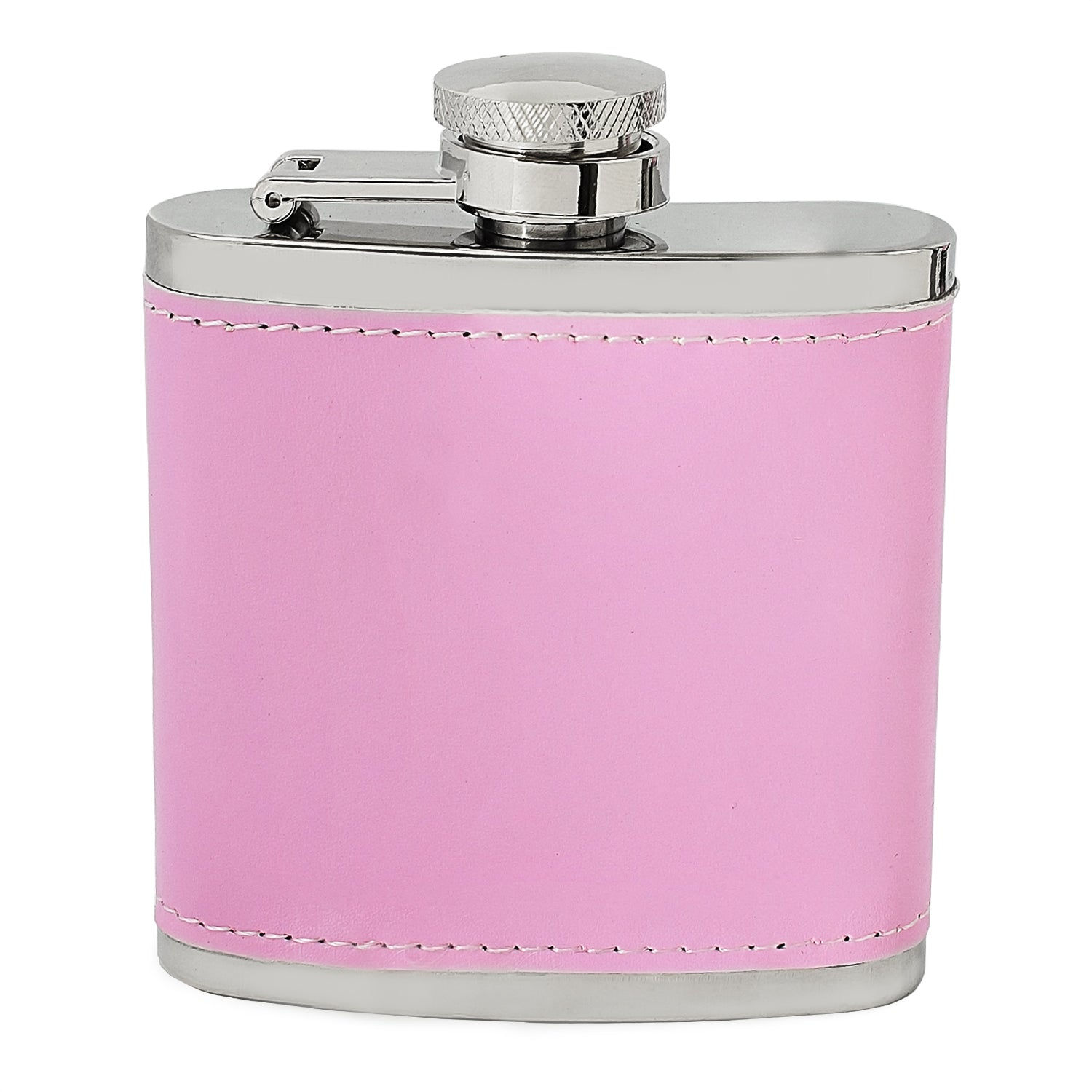 Leather Style 3oz Hip Flask - Pink or Black