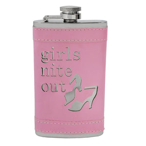 Pink Ladies Girls Nite Out Hip Flask