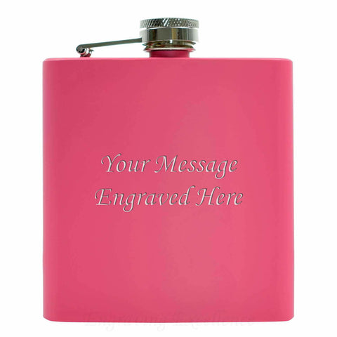 Pink 6oz Hip Flask