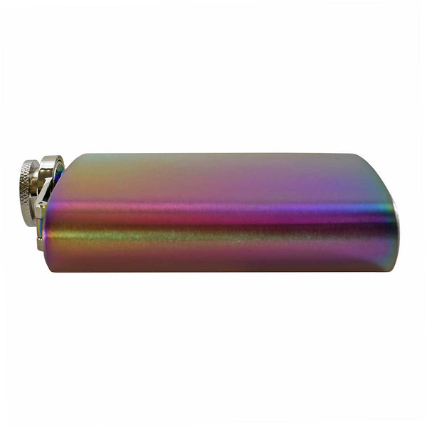 Engraved Rainbow 6oz Hip Flask