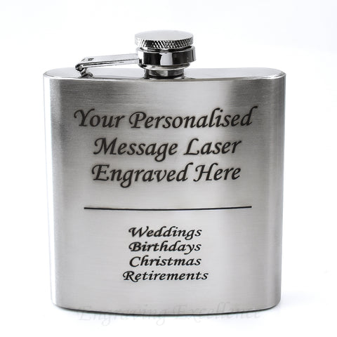 6oz Stainless Steel Hip Flask 360 Product View