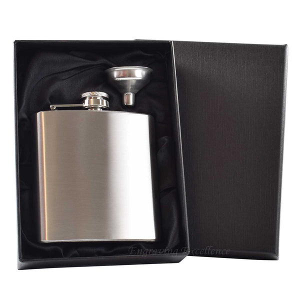 6oz Hip Flask in Gift Box with Funnel