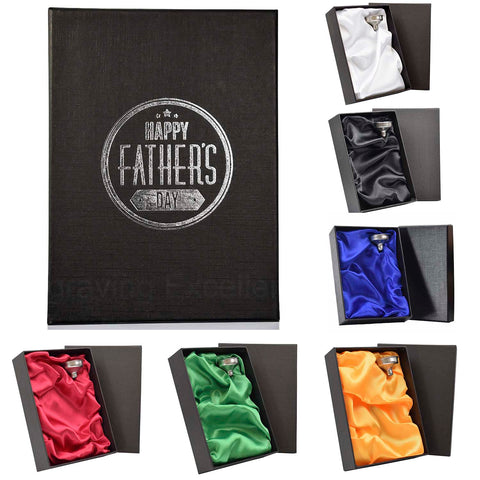 6oz Hip Flask with Funnel and Gift Box - 父亲's Day Printed Lid