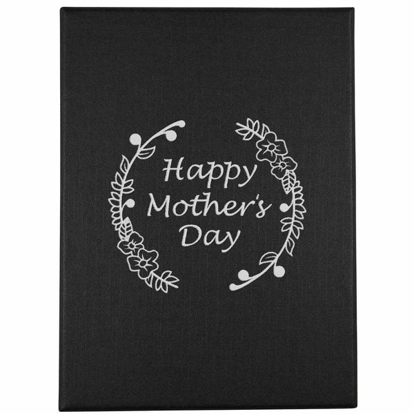 Mother's Day 6oz Hip Flask available in Black or Silver