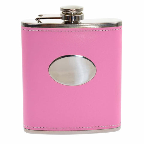 Pink 7oz Hip Flask
