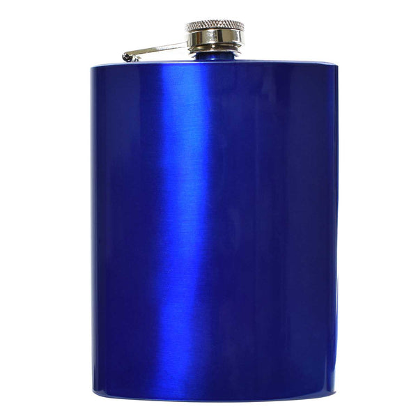 8oz Blue Hip Flask