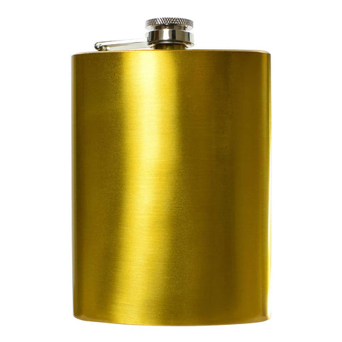 8oz Gold Hip Flask