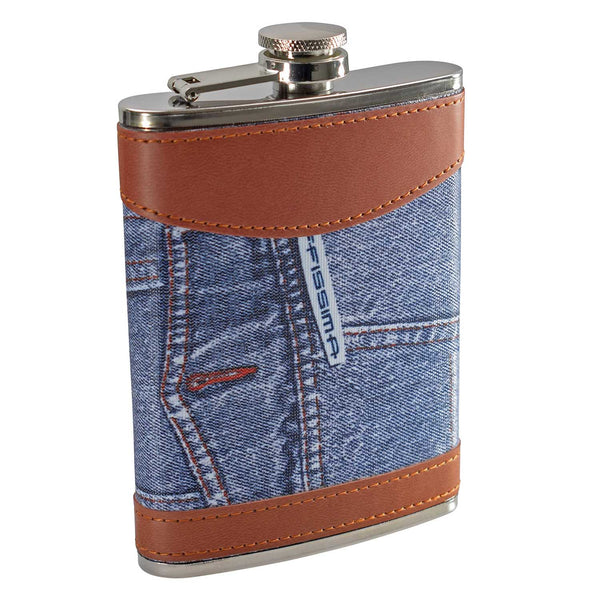 8oz Jeans Hip Flask