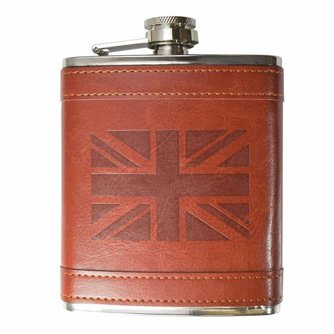 8oz UK Flag Hip Flask