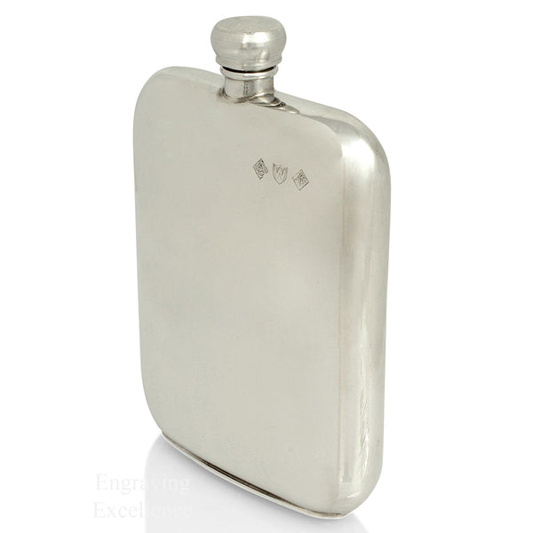 5.5oz Handmade Pewter Hip Flask
