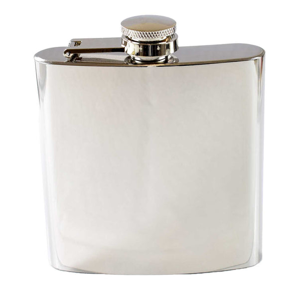 Shiny 6oz Hip Flask with Gift Box and Funnel