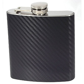 3oz Carbon Fibre Style Hip Flask