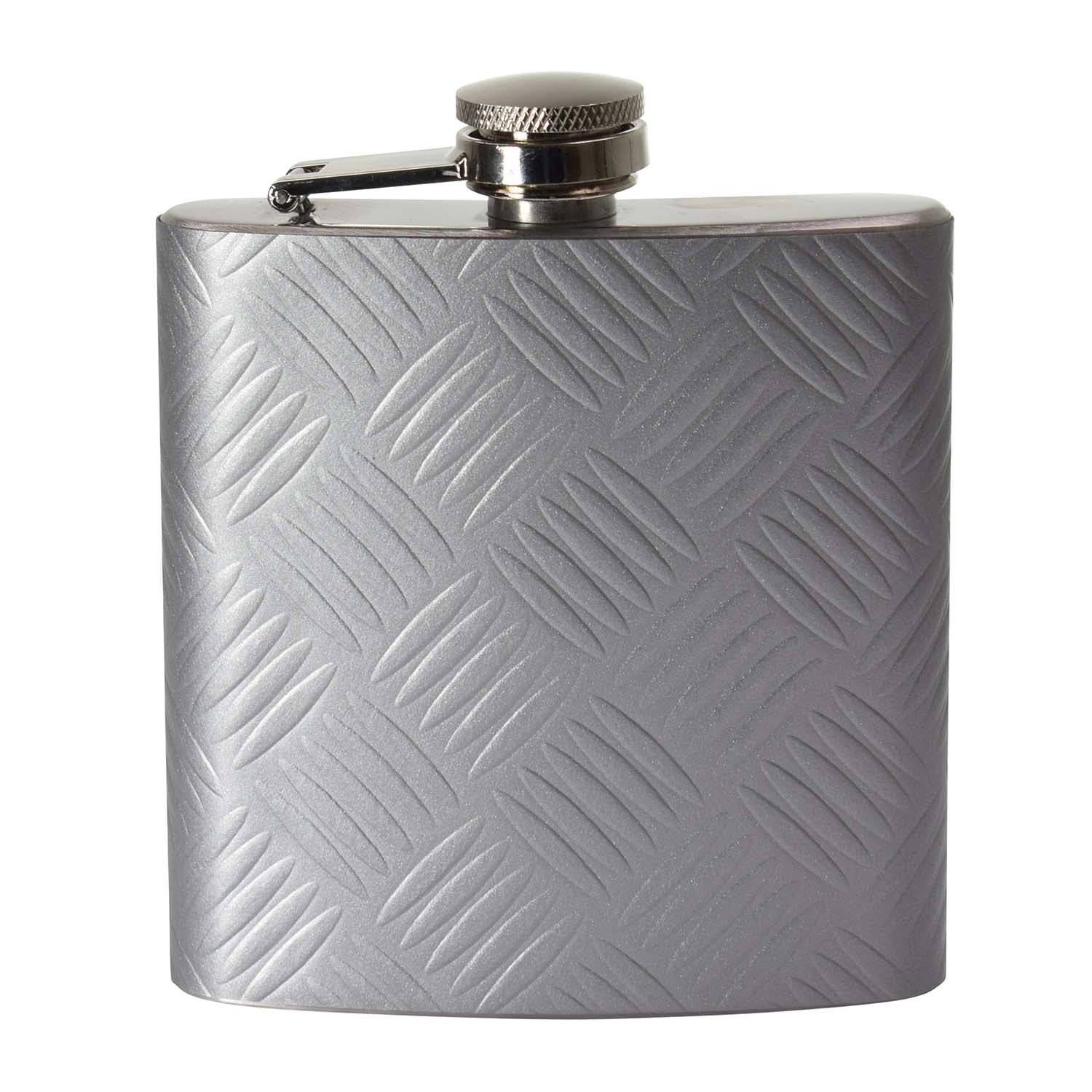 6oz Steel Tread Wrapped Hip Flask