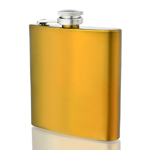 Engraved 6oz Gold Hip Flask