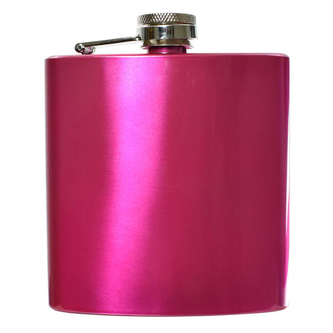 Engraved 6oz Pink Hip Flask