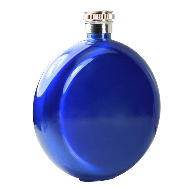 5oz round Hip Flask Blue