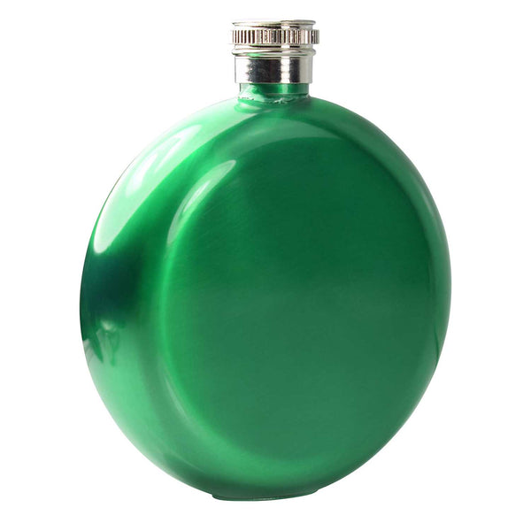 5oz round Hip Flask Green