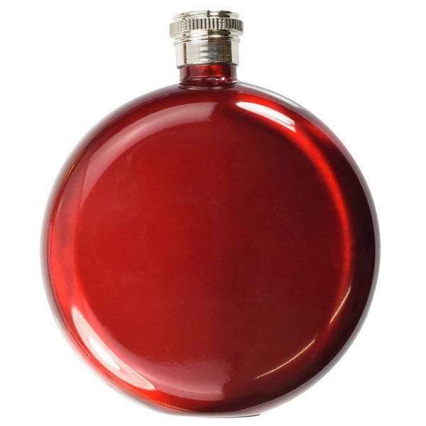 5oz round Hip Flask Red