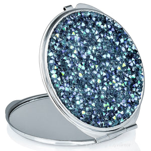 3D Crystal Compact Mirror -  Blue