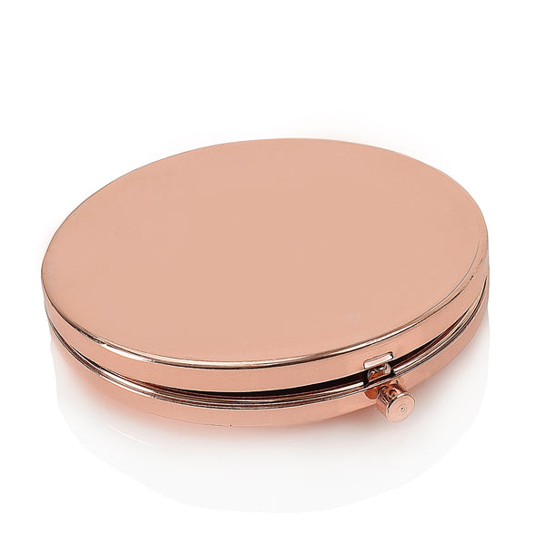 Personalised Compact Mirror - Silver or Rose Gold