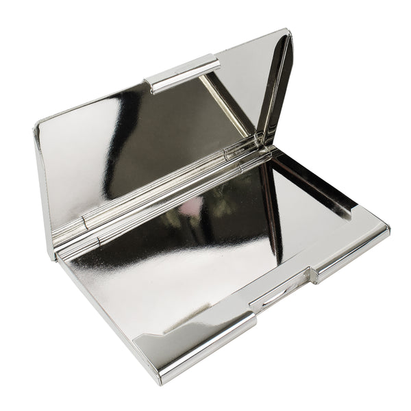 Silver Plated Plain Business Card Holder