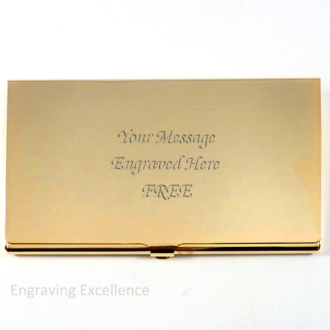 Gold Plated Business Card Holder
