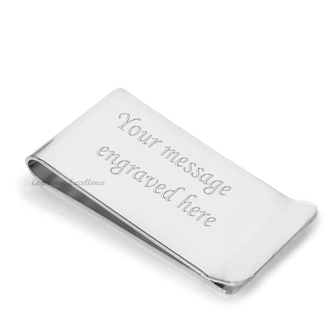 Large Money Clip, Silver Plated