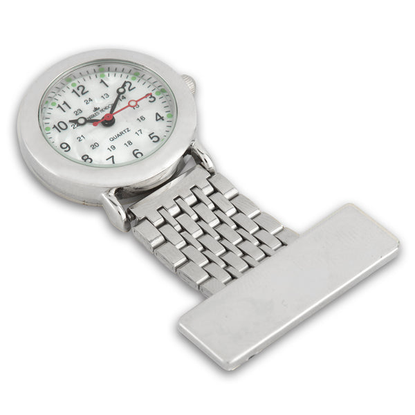 Nurses Fob Watch - Silver