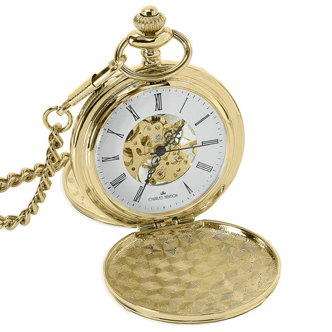 Gold Mechanical Pocket Watch 360 Product View