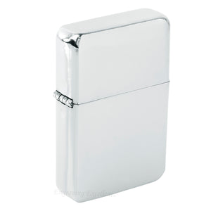 Steel Traditional Flip Lighter - Silver