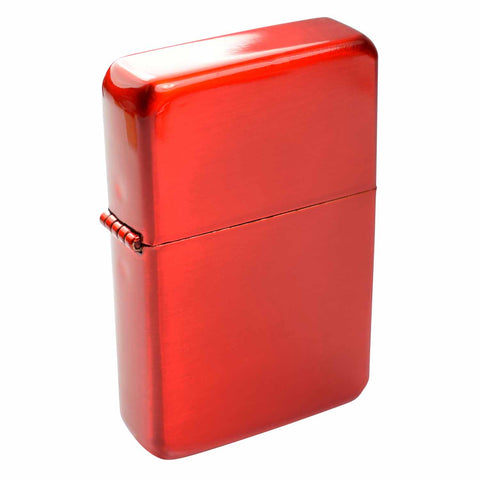 Steel Traditional Flip Lighter - Red
