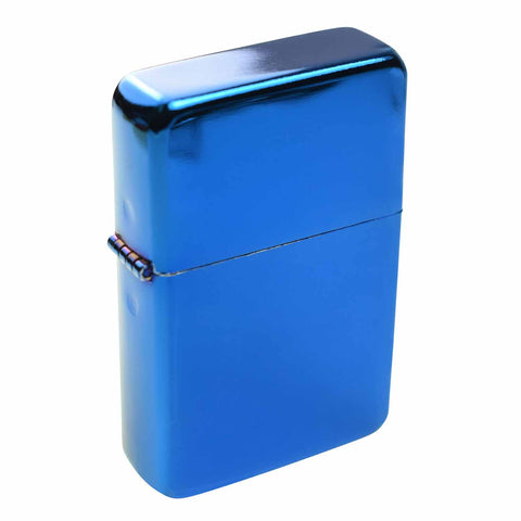Steel Traditional Flip Lighter - Blue