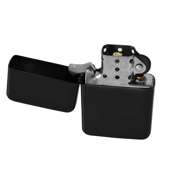 Steel Traditional Flip Lighter - Black