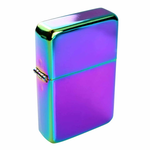 Steel Traditional Flip Lighter - Rainbow