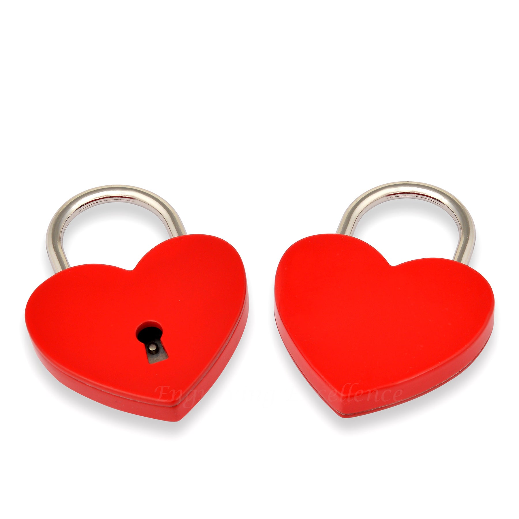 Red Coloured Heart Padlock