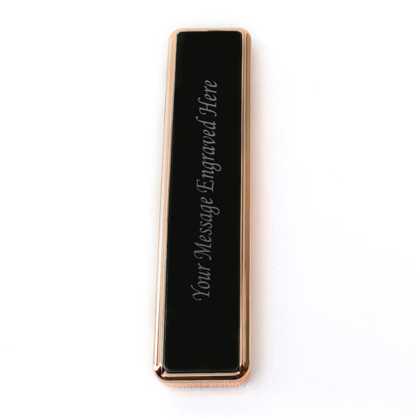 Slim Personalised Electronic USB Windproof Cigarette Lighter