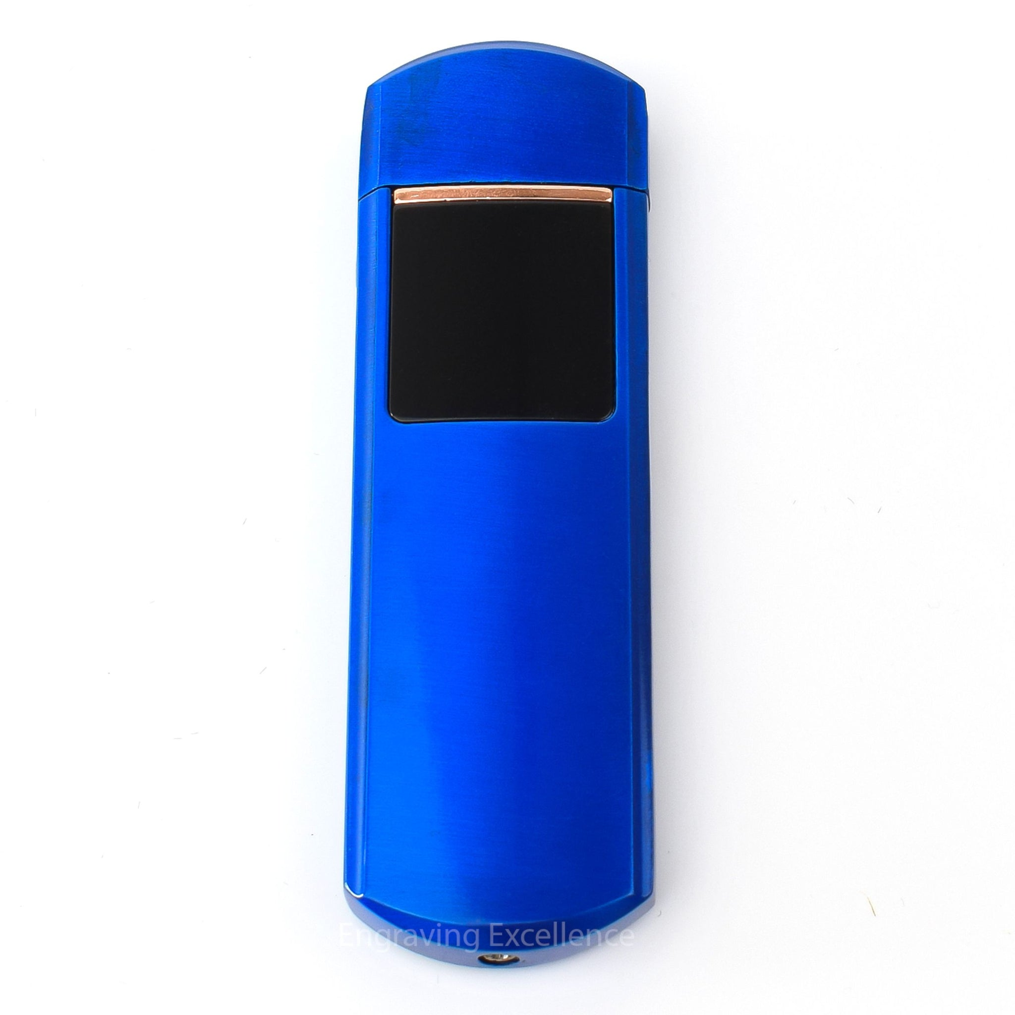 Flip Top USB Lighter - Blue