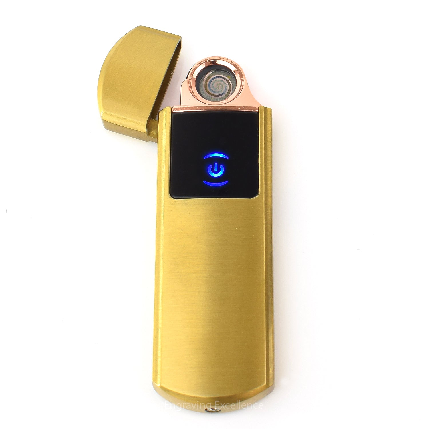 Flip Top USB Lighter - Gold
