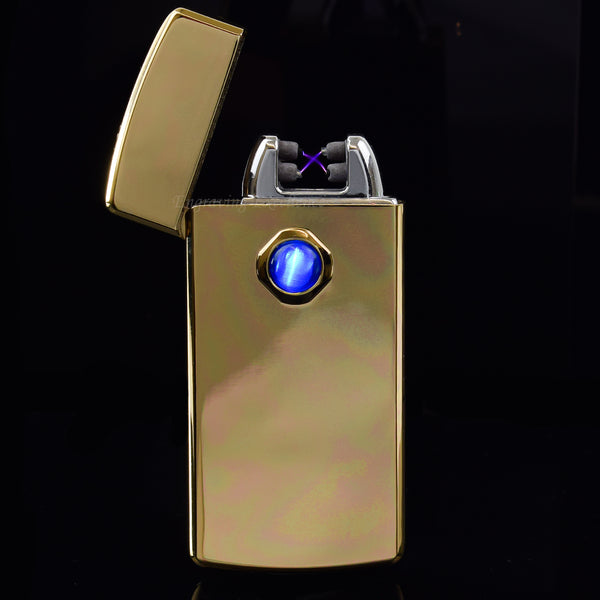 Arc-Plasma Windproof Cigarette Lighter - Gold