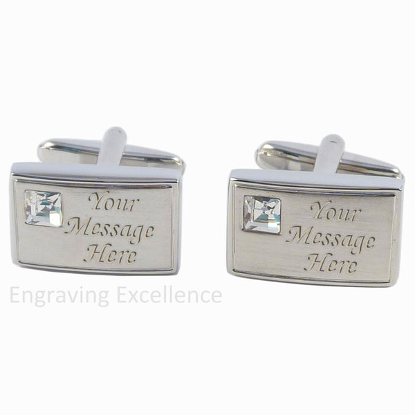Crystal Inset Cufflinks