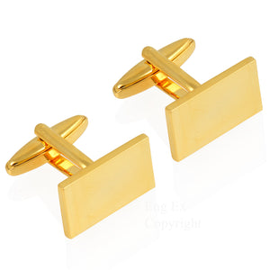 Gold Plated Rectangular Cufflinks