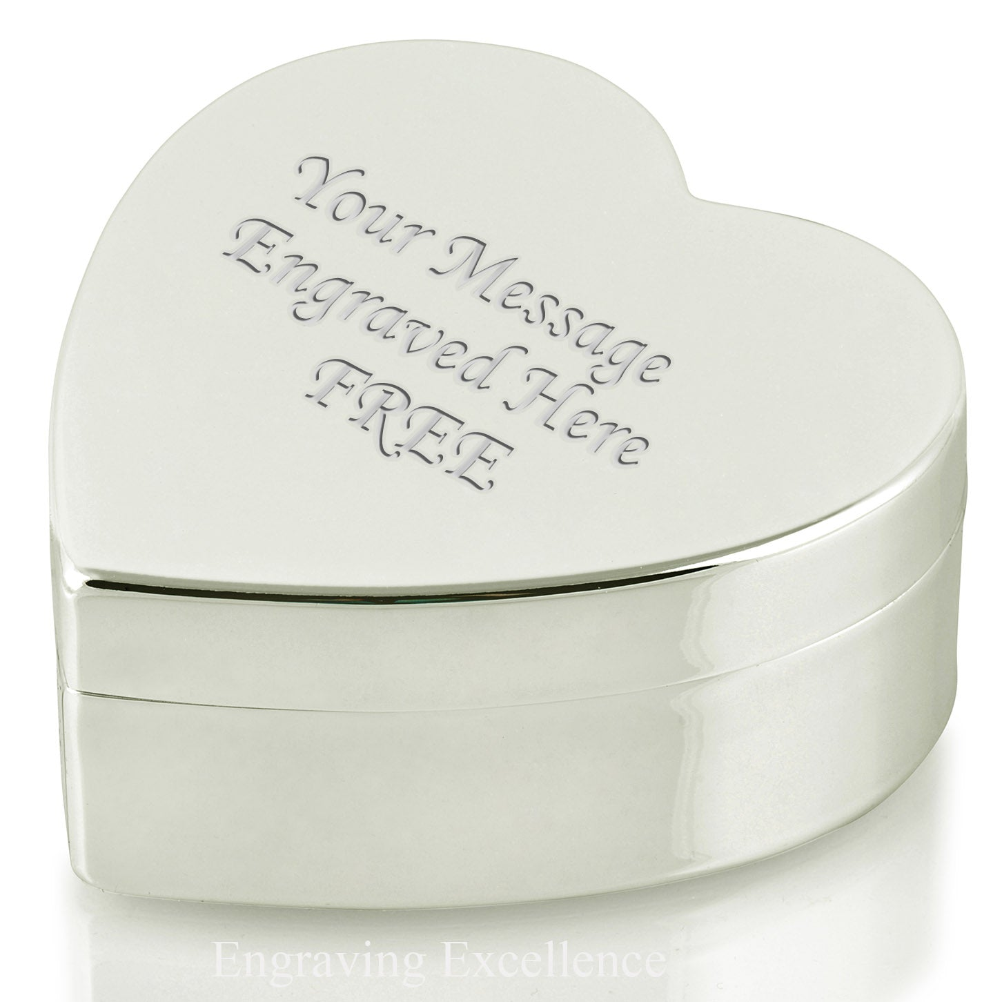 Large Heart Shaped Trinket Box - 360 Product View