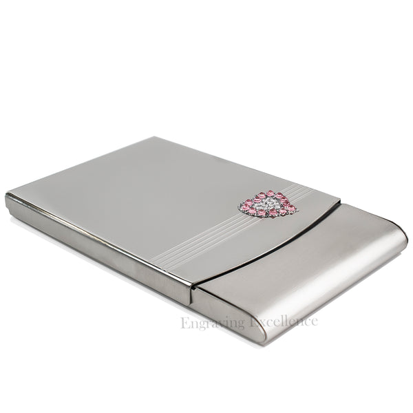 Crystal Heart Design, Jewelled Business Card Case