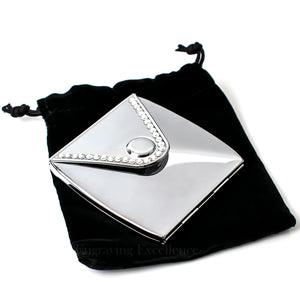 Engraved Envelope Shaped Compact Mirror