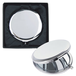 Round Compact Mirror with Gift Box - Personalised With Your Own Message